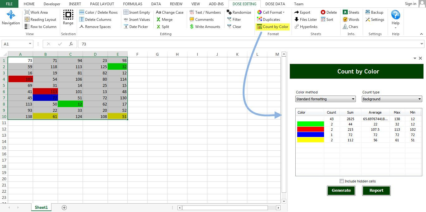 Excel Count by Color
